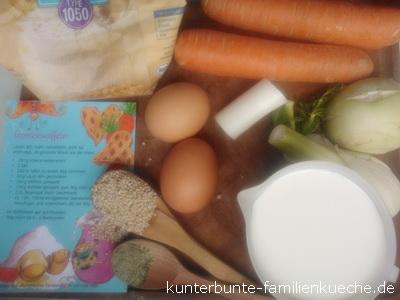 Gemüsewaffelzutaten